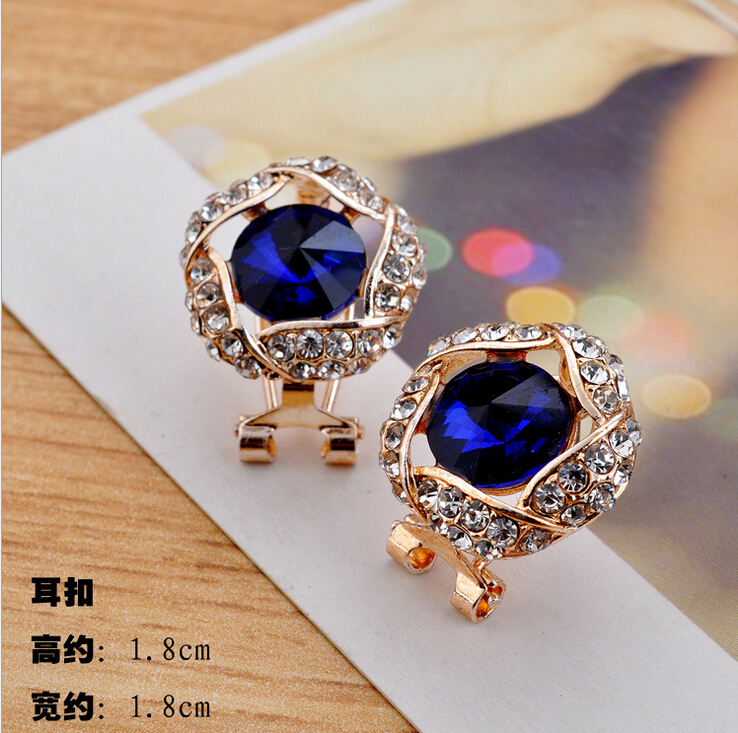 9-Style-Fashion-design-Rose-Flower-Crystal-Rhinestone-Alloy-Stud-Earrings-Choose