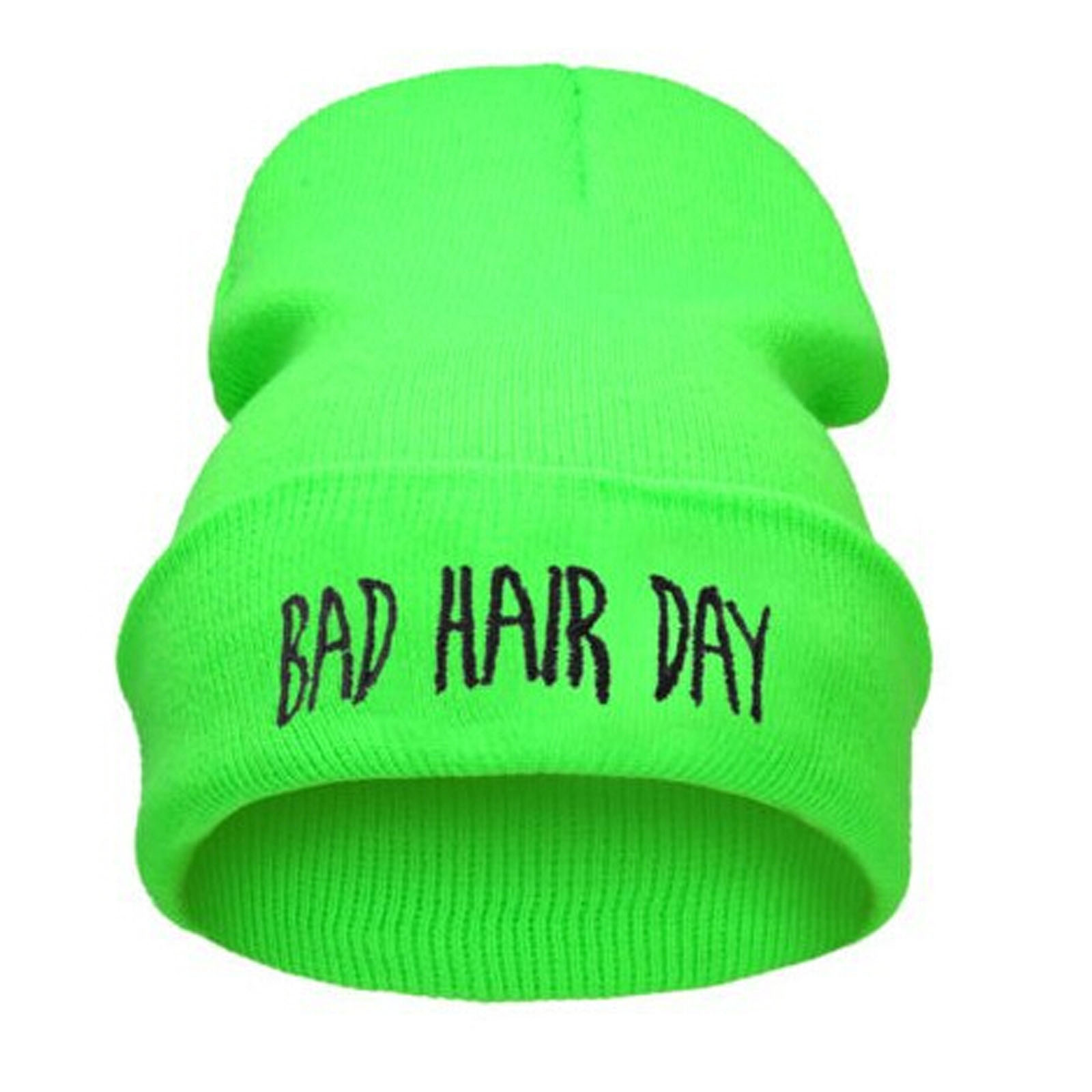 Mens & Womens Plain BEANIE Knit HAT HATS Ski Cap Solid Color Bad Hair Day Choose