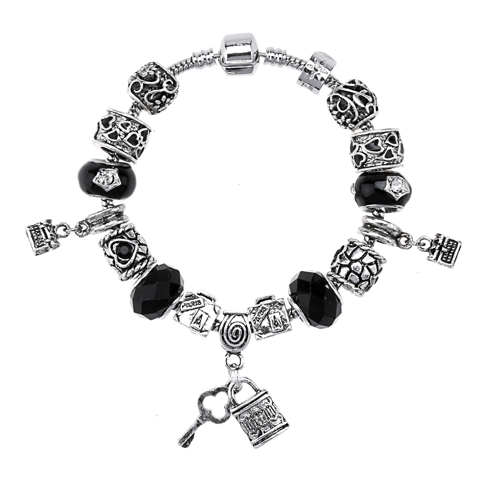 Hot sale Fahion European Style Charm Bracelet With Glass Beads Jewelry for Women